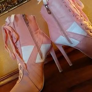 New Sexy Pink Booties
